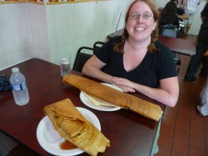 Jolie with dosas