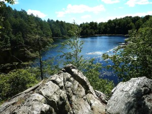 Pelton Pond from the rocks