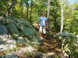 tom on trail