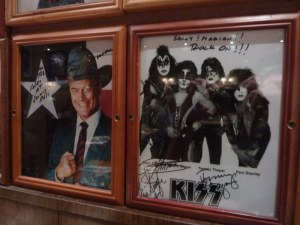 Larry Hagman and Kiss (2)