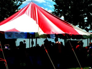 sloop club strawberry tent